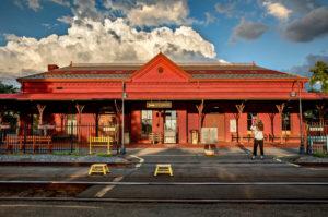 Rail travelers to Hudson still use its original 1874 brick depot. Credit Tony Cenicola /The New York Times